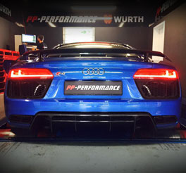 r8 v10 exhaust