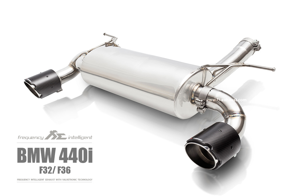 BMW 440i Valvetronic Muffler & Carbon tips