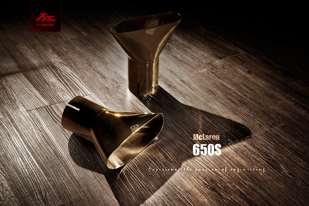 Custom gold tips MODEL:mclaren 650s Brand:fi-exhaust
