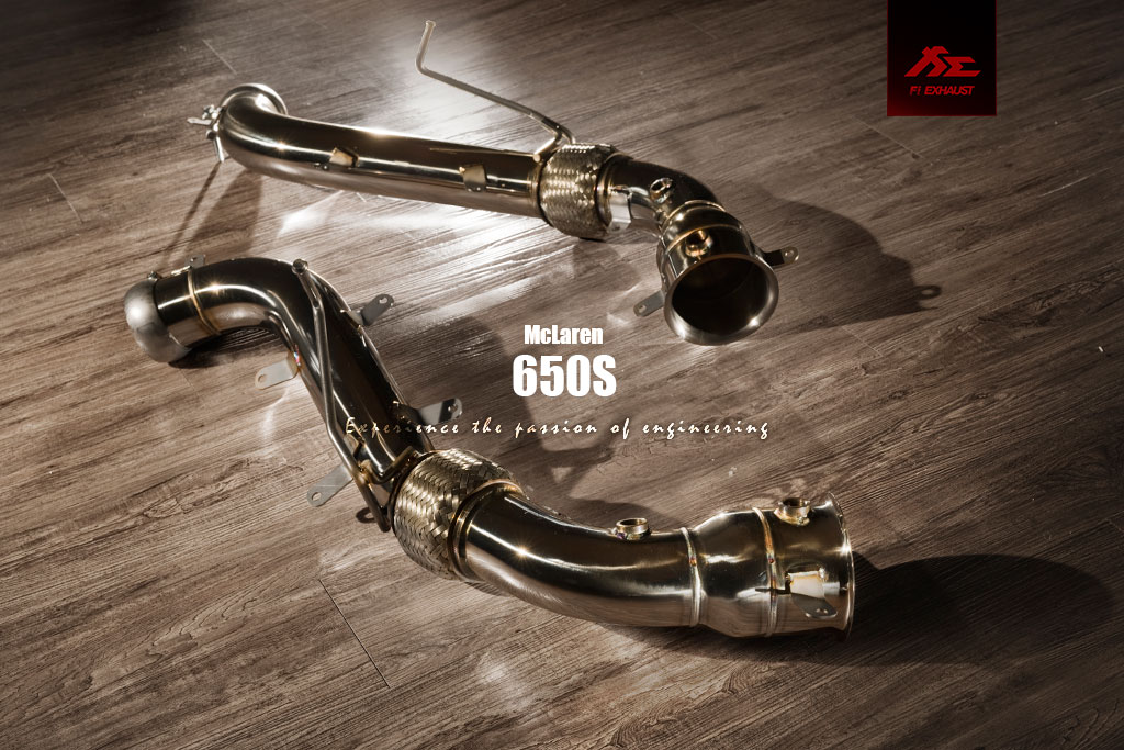 Ultra High Flow Catless Catalyst DownPipe MODEL:mclaren 650s Brand:fi-exhaust
