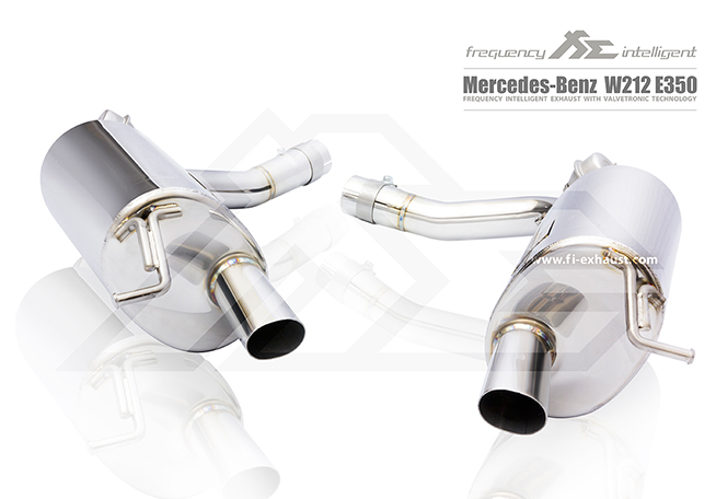 MERCEDES-BENZ W212 E350 Mid X-Pipe 可变阀门桶身