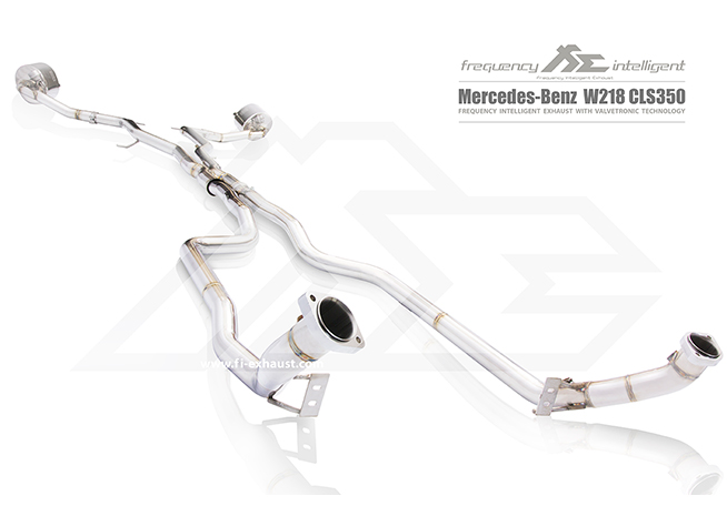 MERCEDES-BENZ W218 AMG CLS350 Catalytic Catless Cat Pipe 可变阀门多�路排气管 高流量触媒段