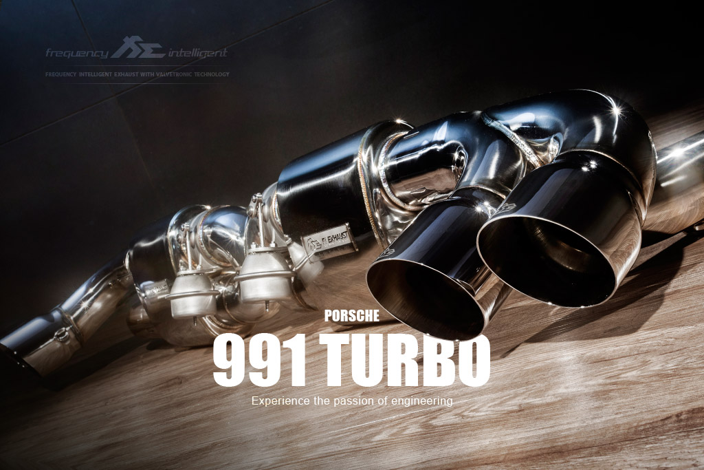 PORSCHE 991 turbo exhaust